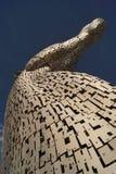 Los Kelpies, cabezas de caballos gigantes, Falkirk, Escocia Foto de archivo libre de regalías