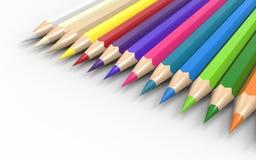 Los lápices de madera coloridos fijaron Sied Foto de archivo