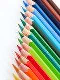 Los lápices del color adentro arreglan en color Imagenes de archivo