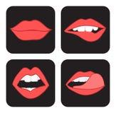 Los labios bosquejan el sistema Imágenes de archivo libres de regalías