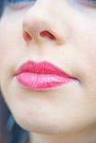 Los labios se cierran para arriba. Fotografía de archivo libre de regalías