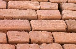 Los ladrillos con la escritura cuneiforme, Shush, Irán Imagenes de archivo