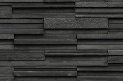 Los ladrillos negros slate el fondo de la textura, textura de la pared de piedra de la pizarra Fotografía de archivo libre de regalías