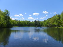 Los lagos gemelos en Bushkill caen en Poconos, Pennsylvania Fotos de archivo