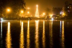 Los Lagos in Xalapa, Veracruz. Los Lagos during Christmas in Xalapa stock images