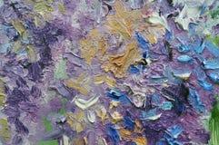 Los lenguados casuales caóticos abstractos agitan dolor coloreado multi del aceite Imágenes de archivo libres de regalías