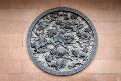 Los leones artesonan en Jing An Tranquility Temple - Shangai, China Fotos de archivo libres de regalías