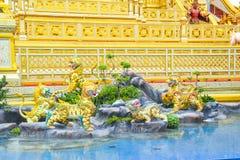 Los leones en el cuento de hadas de Asia 171105 0258 fotografía de archivo libre de regalías