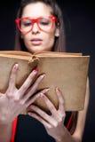 Los libros son mi pasión - friki atractivo Imagenes de archivo
