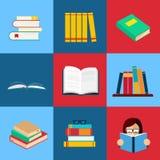 Los libros vector el conjunto Fotos de archivo