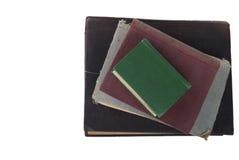 Los libros viejos de la pila de la tapa Foto de archivo