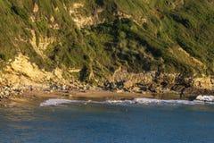 Los Locos wyrzucać na brzeg w Atlantyckim oceanie, Hiszpania zdjęcie stock