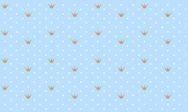 Los lunares blancos lindos wallpaper para el sitio del ` s del niño del estilo del príncipe Imágenes de archivo libres de regalías