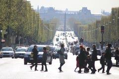 Los lysées del ‰ de los campeones-à del DES de la avenida en París Imagenes de archivo