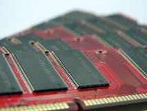 Los módulos de la RAM se cierran para arriba fotos de archivo libres de regalías
