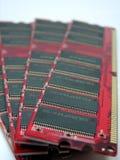 Los módulos del RAM se cierran para arriba fotografía de archivo libre de regalías