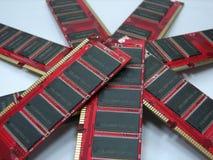 Los módulos del RAM se cierran para arriba Imágenes de archivo libres de regalías