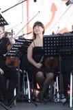 los músicos de la orquesta sinfónica Imágenes de archivo libres de regalías