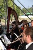 los músicos de la orquesta sinfónica Imagenes de archivo