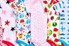 Los mamelucos suaves del bebé se cierran para arriba Fotografía de archivo libre de regalías