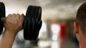 Los man's musculares apoyan metrajes