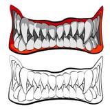 Los mandíbulas stock de ilustración