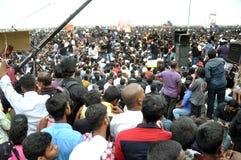 Los manifestantes de Jallikattu se mantienen firmes: el 'We'll va a casa solamente después que el SC levanta la prohibición Imagen de archivo