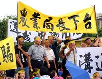 Los manifestantes protestan un nuevo camino polémico Fotos de archivo libres de regalías