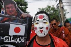 Reunión roja de la camisa en Bangkok Foto de archivo libre de regalías