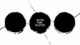 Los marcos abstractos de la tinta fijaron 06 stock de ilustración