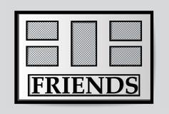 Los marcos blancos modernos imitan para arriba ilustración del vector