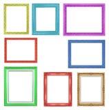 Los marcos coloridos de la colección en el fondo blanco Fotos de archivo libres de regalías