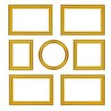 Los marcos de madera del oro viejo Fotografía de archivo