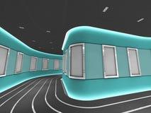 Los marcos de plata en una galería moderna hacen un túnel stock de ilustración