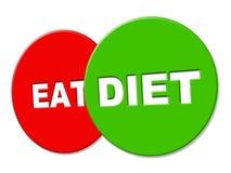 Los medios de la muestra de la dieta pierden el peso y la dieta Fotografía de archivo