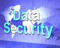 Los medios de la seguridad de datos protegen cifran y hecho Imagen de archivo libre de regalías