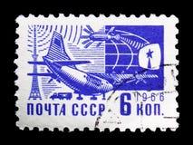 Los medios modernos reparto del correo, el serie de la sociedad y de la tecnología, circa 1966 imagen de archivo