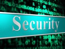 Los medios seguros de la seguridad restringidos protegen y privacidad Foto de archivo libre de regalías
