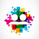 Los medios sociales añaden al amigo como diseño Imagen de archivo libre de regalías