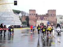Los mejores del Mararathon de Roma, marzo de 2014 Imagen de archivo libre de regalías