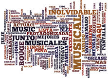 Los Mejores Musicales Text Background Word Cloud Concept Royalty Free Stock Image