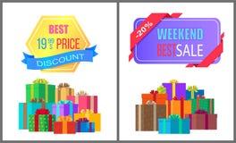 Los mejores 19 Special de la venta de fin de semana del descuento de 99 precios stock de ilustración