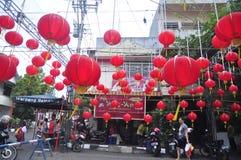 Los mercados acogieron con satisfacción el Año Nuevo chino en Semarang Foto de archivo