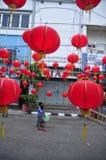 Los mercados acogieron con satisfacción el Año Nuevo chino en Semarang Imagen de archivo libre de regalías