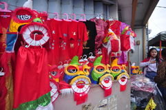 Los mercados acogieron con satisfacción el Año Nuevo chino en Semarang Fotografía de archivo