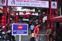 Los mercados acogieron con satisfacción el Año Nuevo chino en Semarang Imagenes de archivo
