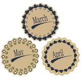 Los meses de la primavera Imágenes de archivo libres de regalías