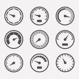 Los metros vector el sistema Imagenes de archivo