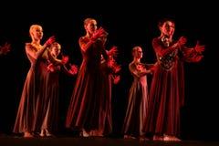 Los miembros de Yevgeny Panfilov Ballet Studio de la ondulación permanente realizan a Romeo y Juliet durante IFMC el 22 de noviemb Imagenes de archivo