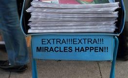 Los milagros suceden imágenes de archivo libres de regalías